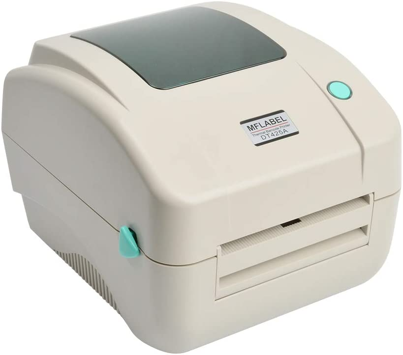 MFLABEL White Color 4x6 Thermal Printer, Commercial Direct Thermal High Speed USB Port Label Writer Machine