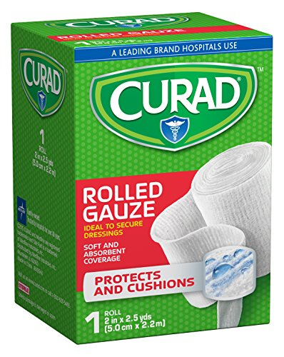 Curad Pro-Sorb Premium Rolled Gauze, 2 x 2.5 Yards, (Pack of 6)