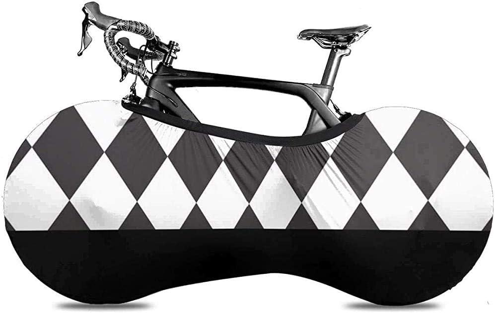 Cubierta de la Rueda de Bicicleta, Cubierta de la Bicicleta - Círculo a Cuadros Arlequín Arlequín Abstracto Blanco Navidad Patrón a Cuadros
