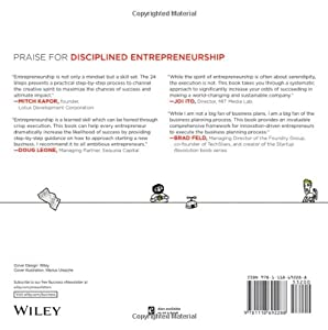 Disciplined Entrepreneurship: 24 Steps to a Successful Startup from Wiley