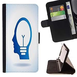 King Case - FOR Samsung Galaxy S3 MINI 8190 - I am a slow walker - Prima caja de la PU billetera de cuero con ranuras para tarjetas, efectivo Compartimiento desmontable y correa para la mu?eca