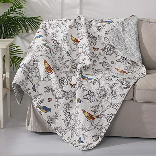 Pillow Toile Quilted - Levtex Home Mockingbird Quilted Throw