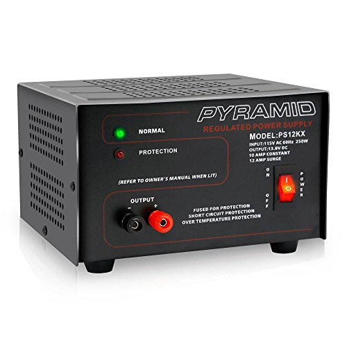 Pyramid Bench Power Supply | AC-to-DC Power Converter | 10 Amp Power Supply (PS12KX) Bench Conversion