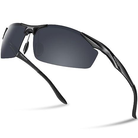 Paerde - Gafas de sol polarizadas para deporte, de montura irrompible, negro