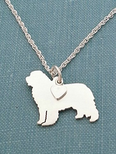 .925 Sterling Silver Newfoundland Dog Necklace