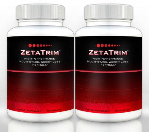 ZetaTrim (2 bouteilles) - Supplément Burning Fat Multi Stage de haute performance. Meilleur de suppression de l'appétit, perte de poids, régime minceur pilule, Slim Down rapide