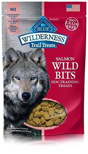 BLUE Wilderness Trail Treats Grain-Free Wild Bits Salmon Recipe Dog Treats 4-oz