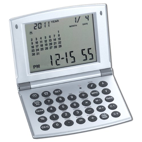 natico multifunctional world time clock calendar and calculator 10