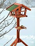 BUSDUGA - Vogelhaus / Futterhaus aus Holz mit Futtersilo 121 x 46 x 30cm , sehr leichter Aufbau