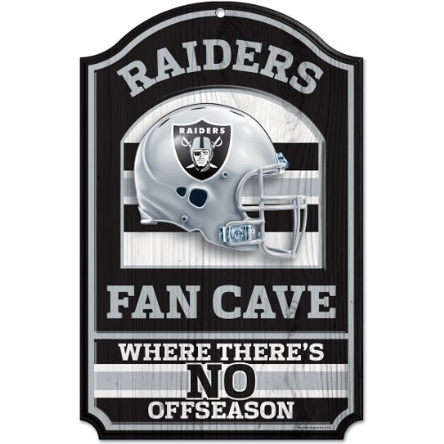 - NFL Oakland Raiders Fan Cave Wood Sign, 11