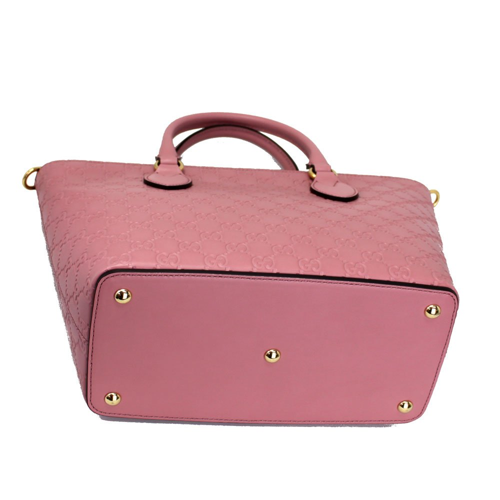 32017753e0d3 Gucci Guccissima Pink Leather Tote Bag With Strap 432124: Amazon.ca:  Clothing & Accessories