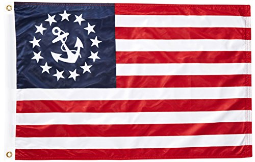 - US Flag Store U.S. Yacht - Anchor - Flag 2ft x 3ft Superknit Polyester - Double Sided