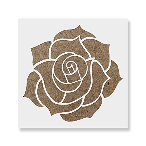 Rose Stencil Template - Reusable Stencil with Multiple Sizes Available ()