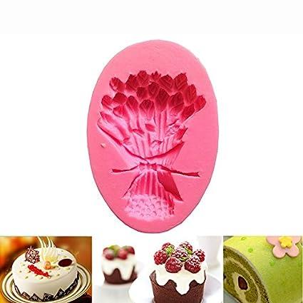 Hosaire Molde de Silicona de Pastel Molde de Fondant DIY Decoración de Repostería Pastel Cookie (