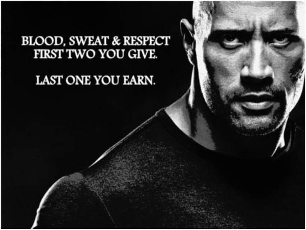 NRRTBWDHL Rock Dwayne Johnson Bodybuilding Fitness Motivational Gym Painting Poster Art Poster Canvas Home Decor Wall Picture Print-50x70cm No Frame