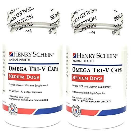Butler-Schein Omega Tri-V Supplement for Medium Breeds 31-60 lbs, 60 Softgel Capsules, Pack of 2