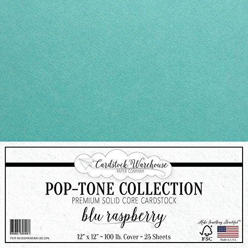 BLU RASPBERRY / TEAL BLUE Cardstock 12