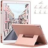 Ztotop Case Compatible with iPad Pro 12.9, Secure Magnetic Stand Folio Case with Auto Wake/Sleep, Pencil Holder, Soft Silicone Back Cover for Apple iPad 12.9-Inch 2017/2015, Rose Gold
