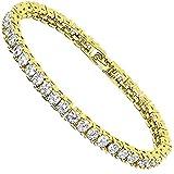 VPKJewelry Tennis Women's Bracelets 3 times 18k Yellow Gold Plated 4 mm Diamonique CZ sz 6.7'' 7'' 7.5''