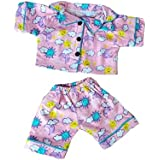 """""""Sunny Days"""" Pink PJ's Outfit Fits Most 14"""" - 18"""" Build-a-bear, Vermont Teddy Bears, and Make Your Own Stuffed Animals"""