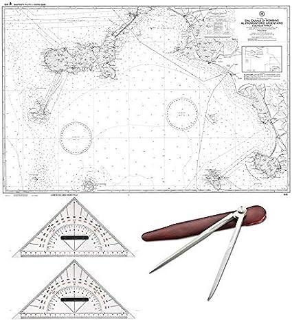 Cartina 5d.Kit Set Carteggio Nautico Scuola Patente 2 Squadrette Bicolore 1 Compasso Carta 5d Piegata Amazon It Elettronica