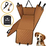 Knodel Dog Seat Cover, 100% Waterproof Car Seat Cover for Pets, Pet Seat Cover Dog Hammock, 600D Heavy Duty Scratch Proof Pet Back Seat Covers, Zippered Side Flaps for Cars, Trucks and SUVs (Brown) For Sale