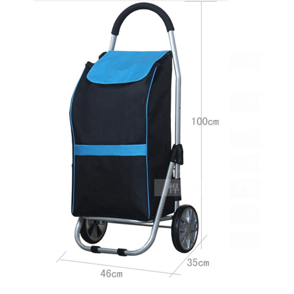 J&M Shopping Trolley, Hard Wearing & Foldaway Lightweight - Shopping Cart: Amazon.com: Industrial & Scientific