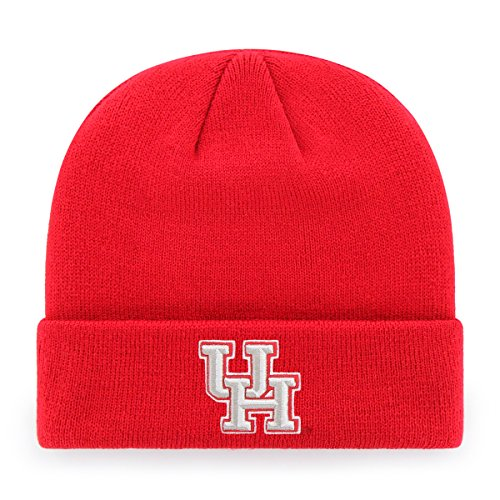 OTS NCAA Houston Cougars Raised Cuff Knit Cap, Red, One Size -