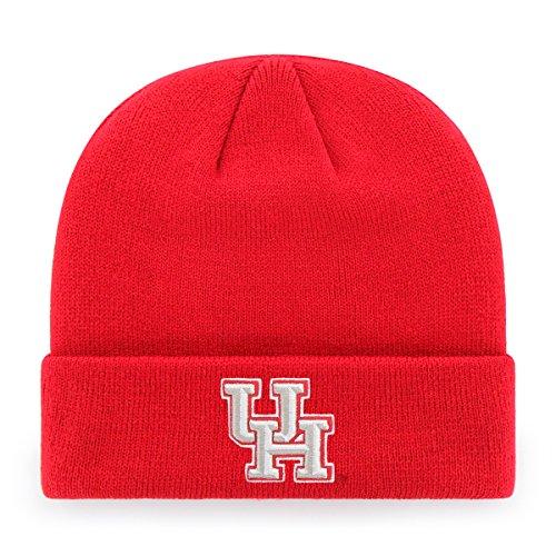 NCAA Men's Houston Cougars OTS Raised Cuff Knit Cap, One Size, Team Color (Outlet Houston)