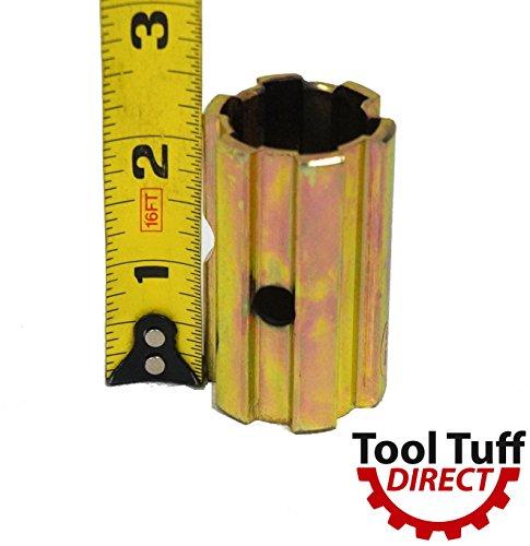 (PTO Sleeve Increaser Adaptor, 1-3/8 x6 male x 1-1/8 x 6 Female, 2.25