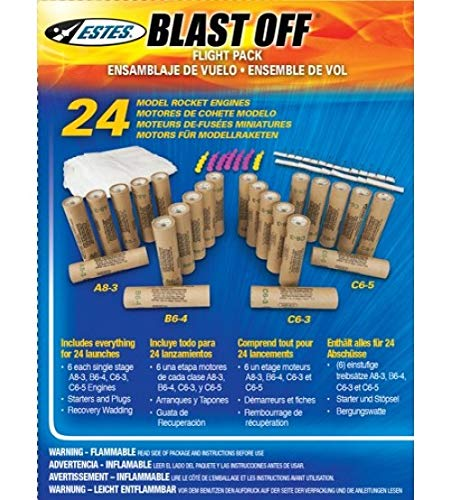 ESTES Assorted Rocket Motor Bulk Pack A8-3 - B6-4 - C6-3 - C6-5