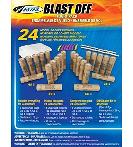 ESTES Assorted Rocket Motor Bulk Pack A8-3 - B6-4 - C6-3 - C6-5 ()