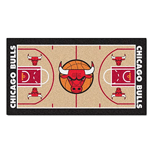 Fanmats NBA Chicago Bulls Nylon Face NBA Court (Chicago Bulls Floor)
