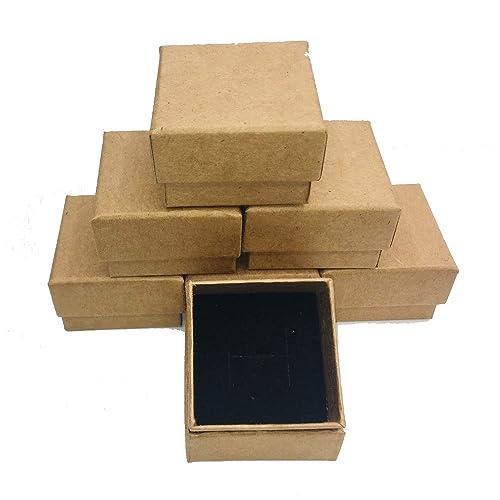 Boxpack 24 Cajas de Carton Kraft para Anillo sortija de ...