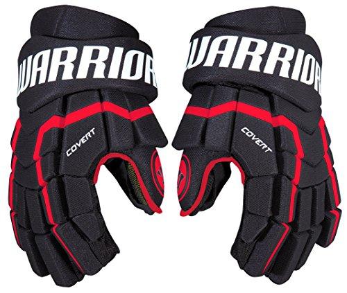 Warrior QRL5 Gloves, Size 13, Black/Red/White - Red Ice Hockey Gloves
