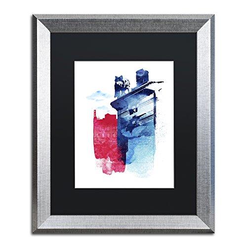 Trademark Fine Art This Is My Town by Robert Farkas, Black Matte, Silver Frame 16x20-Inch
