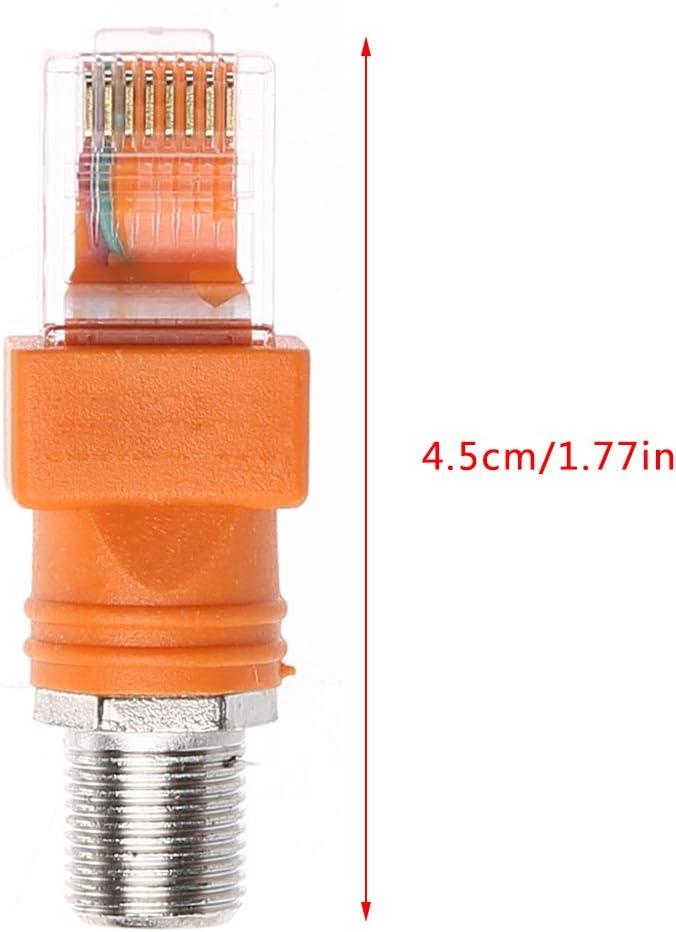 Adaptador de conector F hembra a RJ45 macho coaxial RJ45 a ...