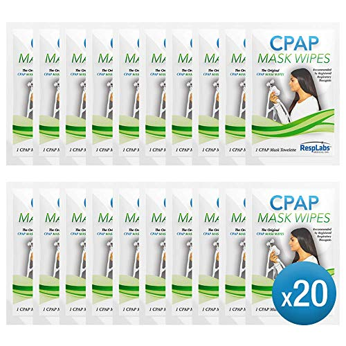 RespLabs CPAP Mask Wipes - 20 Travel Wipes (Best Cpap Mask Reviews)