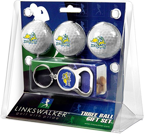 Golf Ball South Dakota (NCAA South Dakota State Jackrabbits - 3 Ball Gift Pack with Key Chain Bottle Opener)