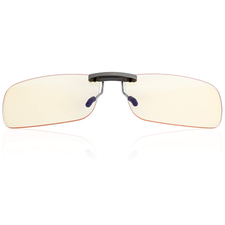 Clip on Blue Light Blocking Computer Gaming Glasses,Anti Blue Ray Video/TV Lenses for Men and Women,UV Blocking Anti Eye Strain Fatigue Dry Eyes Relief Unisex Reading Eye wear