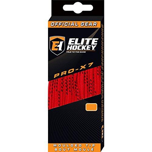 Elite Hockey PRO-X7 Skate Laces (X7-Red, 108)