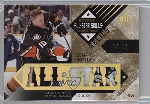 Corey Perry #15/15 (Hockey Card) 2016-17 Upper Deck SP Game Used - 2016 All-Star Skills Relic Blends - Patch -