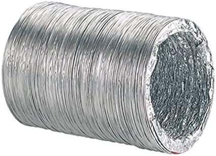 Vortice per uso con ventilatore di estrazione di impianti di ventilazione//sistemi idroponici ecc. 46519 condotto flessibile in alluminio 100/mm 3/metri di lunghezza