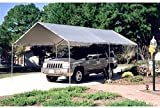 Metal Waterproof,Fire Retardant 6 Legs 10 x 20 ft. Canopy Carport 20L x 10W x 8H ft.(Included Canopy, 6 legs)-Silver