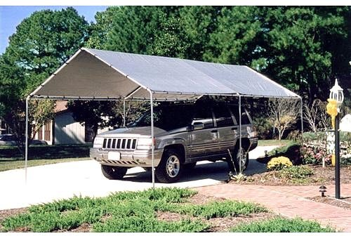 Metal Waterproof,Fire Retardant 6 Legs 10 x 20 ft. Canopy Carport 20L x 10W x 8H ft.(Included Canopy, 6 legs)-Silver