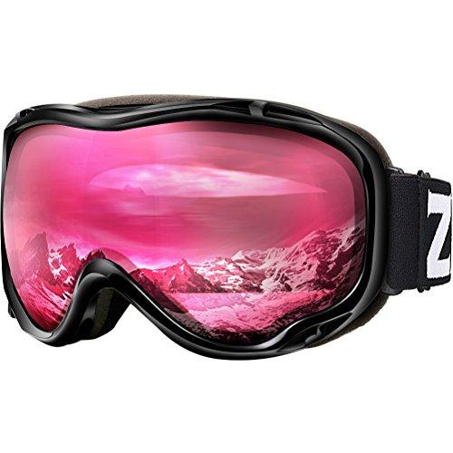 ZIONOR Lagopus Ski Snowboard Goggles UV Protection Anti-fog Snow Goggles for Men Women - Snowboarding Polarized Goggles