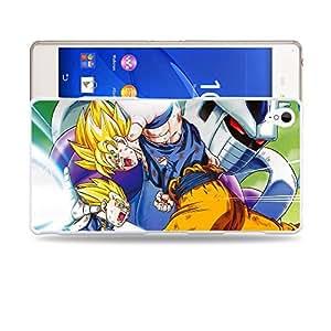 Case88 Designs Dragon Ball Z GT AF Son Gohan Super Saiyan Goku & Vegeta VS Kooler Protective Snap-on Hard Back Case Cover for Sony Xperia Z3