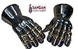 Sangamsteelcraft Medieval Functional Metal Gloves Hourglass Gauntlets 16G Large Size SCA LARP