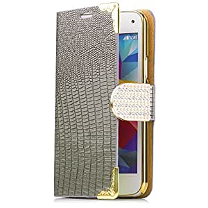 iCues AM30 de imitación de piel de cocodrilo con tapa para Samsung Galaxy S5 mini