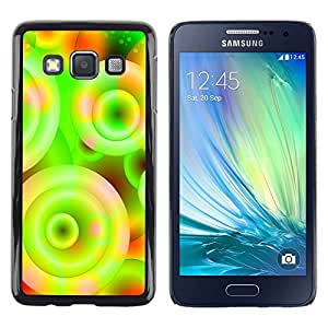 Paccase / Dura PC Caso Funda Carcasa de Protección para - Neon Colors Wallpaper Circle Universe Spiral - Samsung Galaxy A3 SM-A300